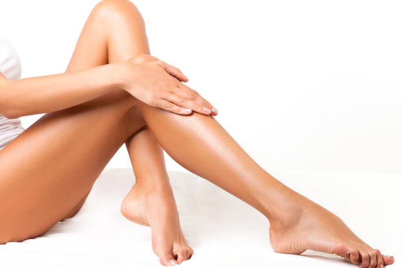 Gambe depilate