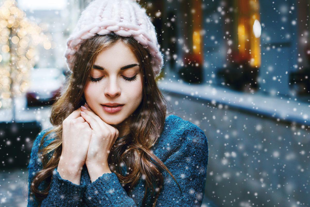 Ragazza inverno