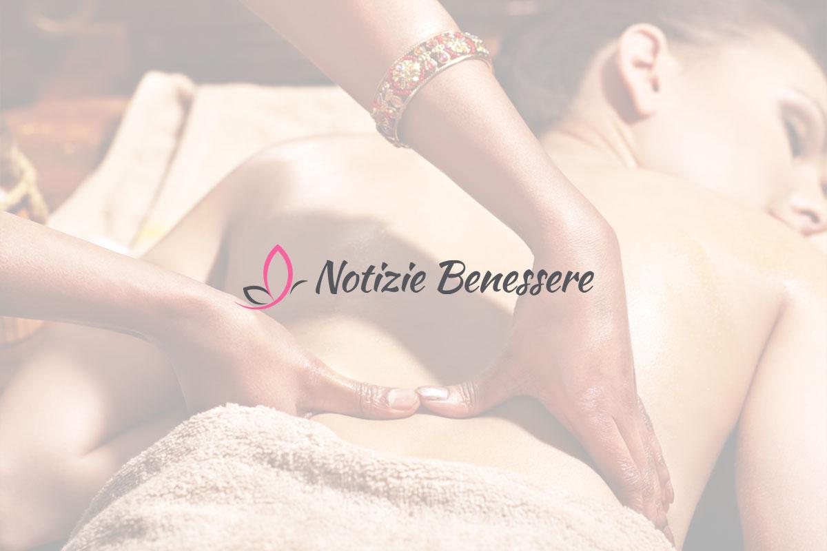 Donna coreana con fiore blu