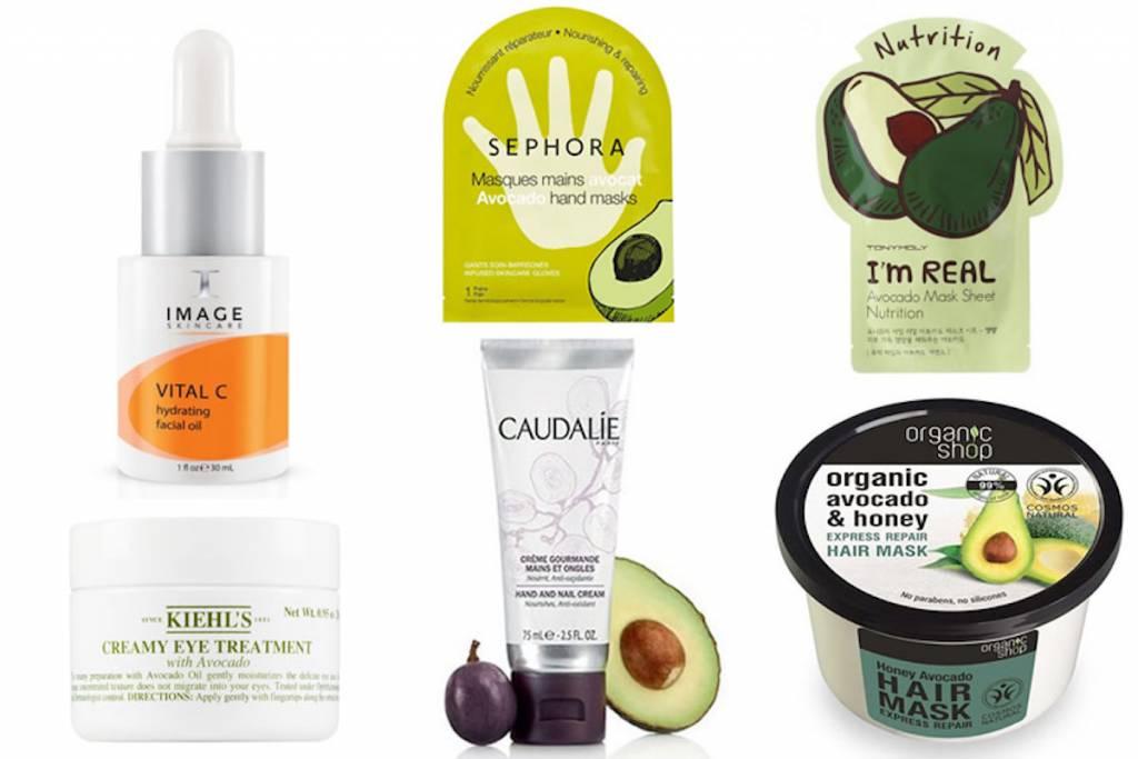 Cosmetici all'avocado