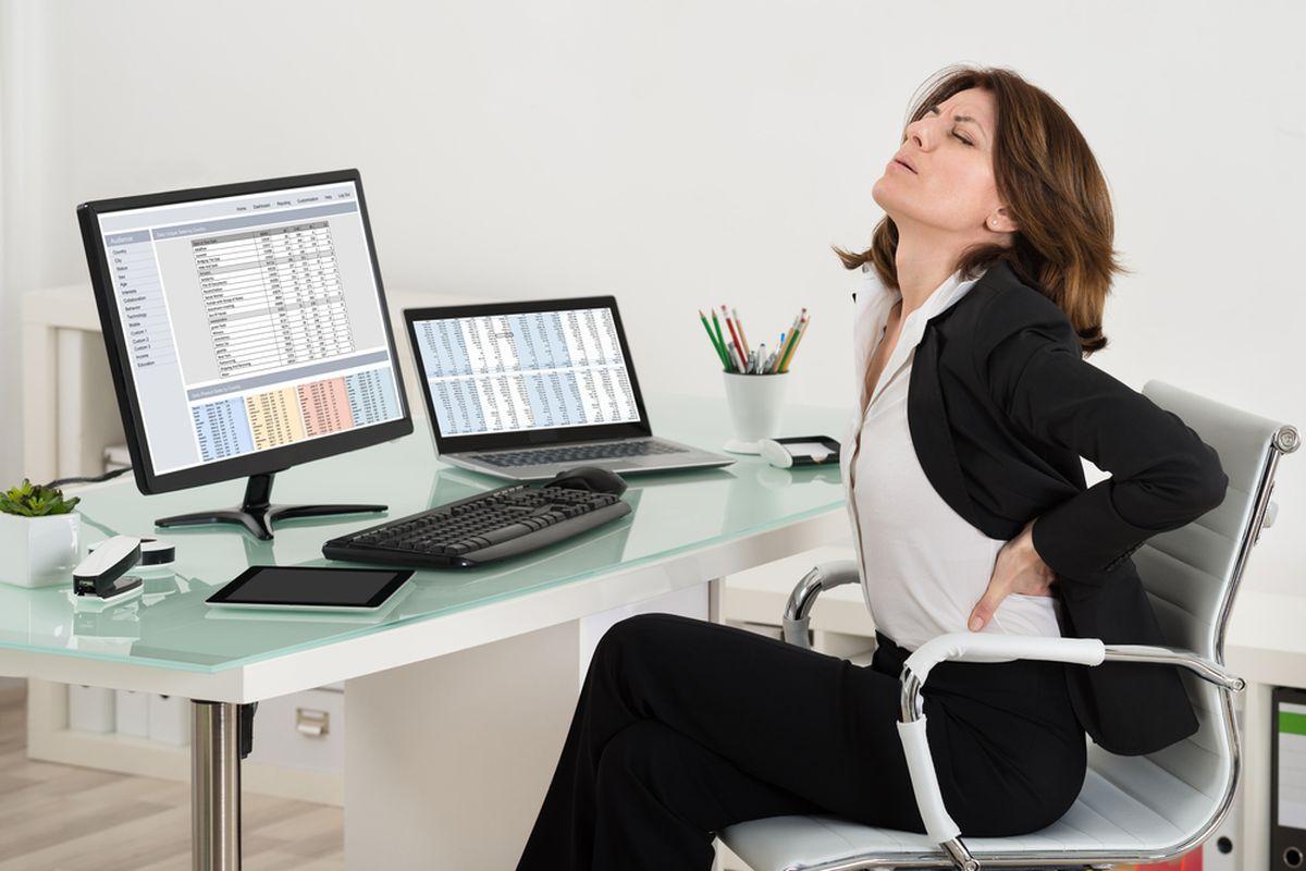Mal di schiena in ufficio