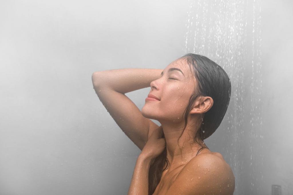 Lavarsi con l'acqua bollente
