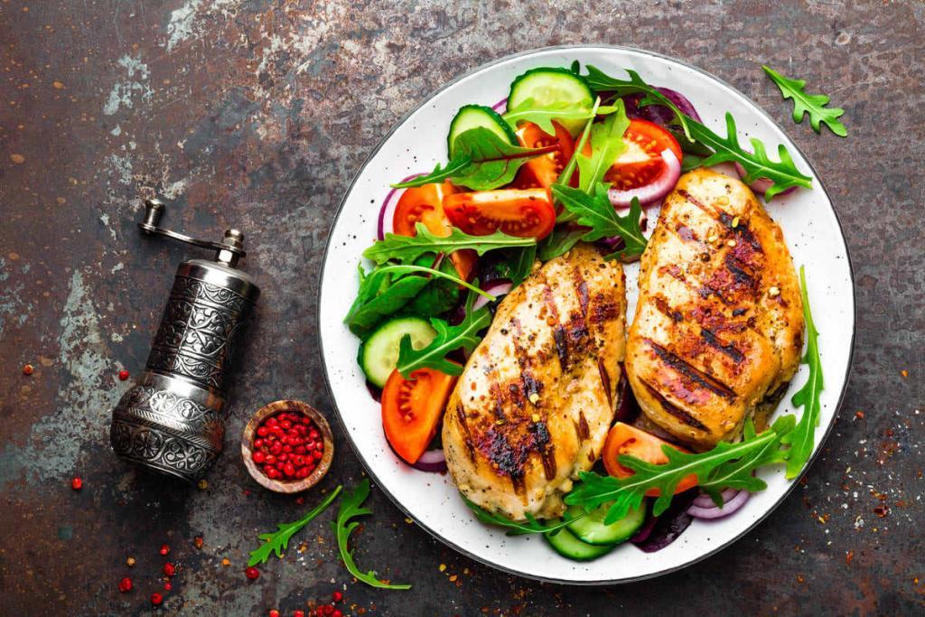 Pollo alla piastra e verdure