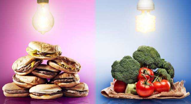 Fast food vs cibo sano