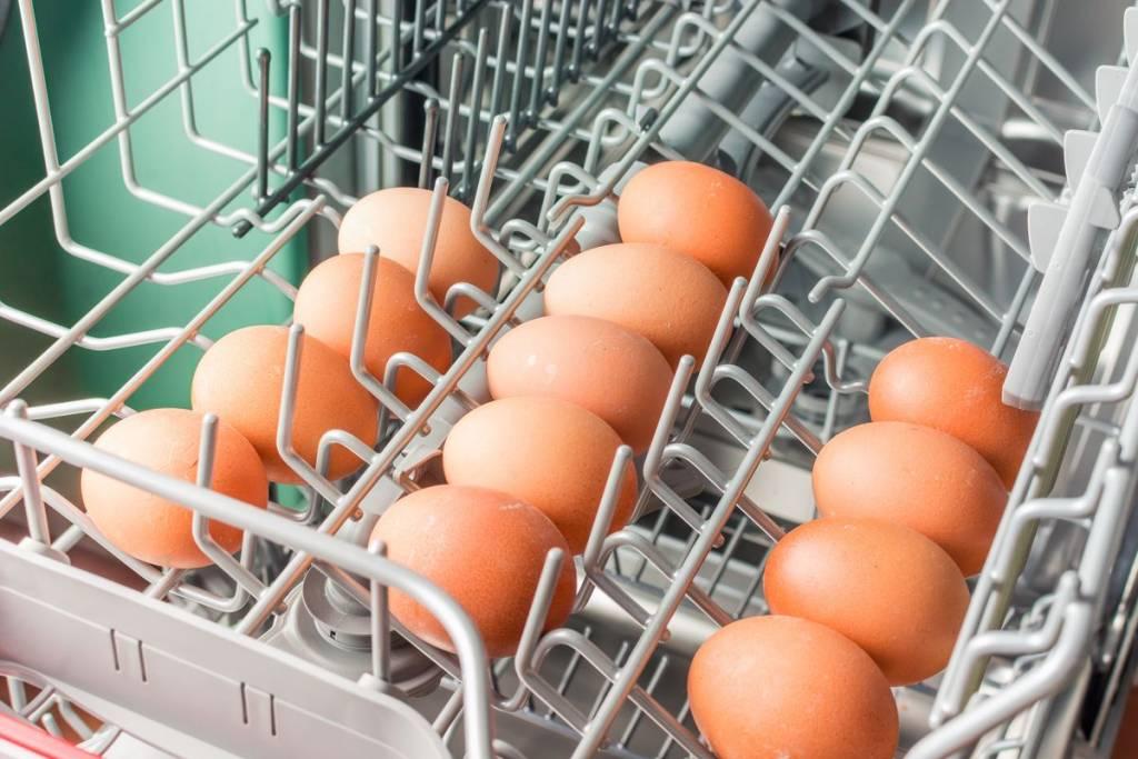 Uova in lavastoviglie