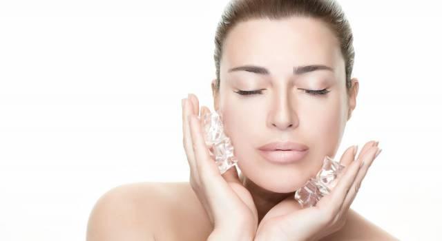 Applicazione del freddo sulla pelle: è il segreto anti-age