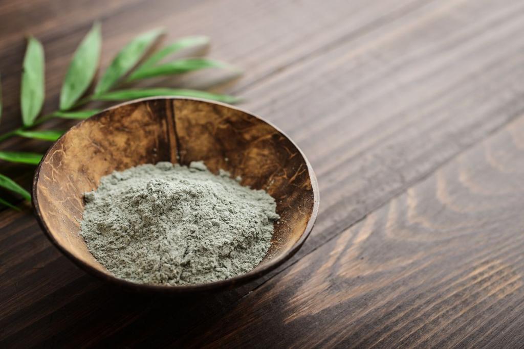 Argilla verde in polvere
