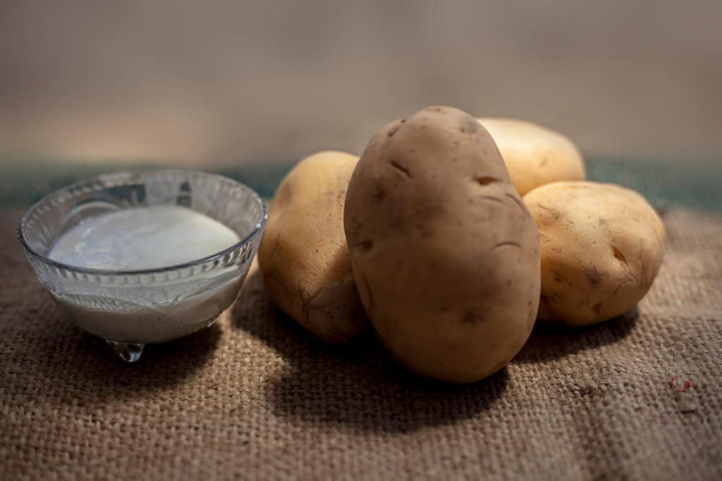 crema viso con patate