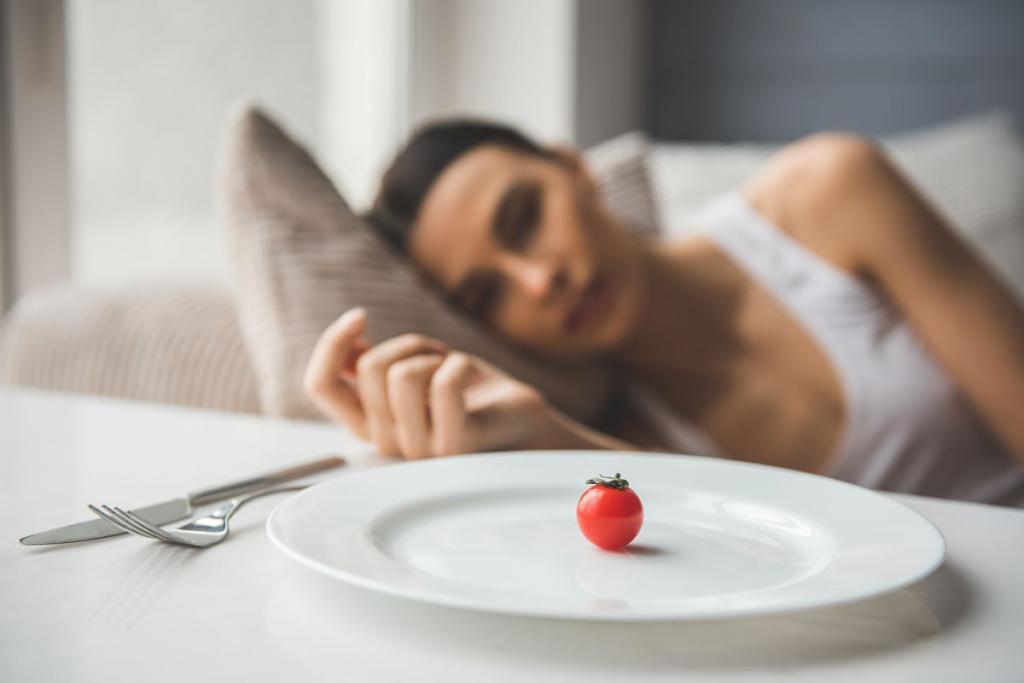 ragazza con problemi cibo