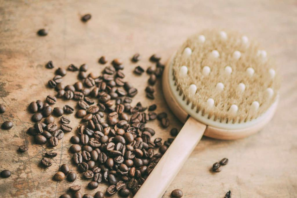 spazzola corpo e caffè